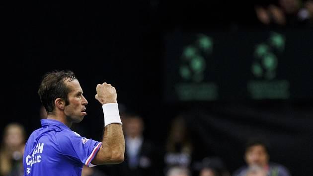 Radek Štěpánek během semifinále DC s Argentinou.