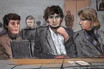 Džochar Carnajev u soudu.