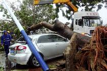 Ničivý tajfun Haiyan udeřil na Vietnam.