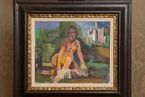 Obraz Oskara Kokoschky Ženský akt před Avignonem