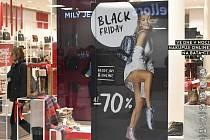 Reklamní banner upozorňuje na výprodejovou akci Black Friday