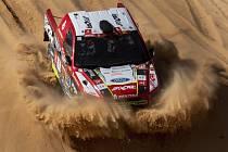 Česká posádka Martin Prokop, Viktor Chytka s vozem Ford v 5. etapě Rallye Dakar