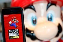 Hra Super Mario Run od firmy Nintendo na přístroje Apple.