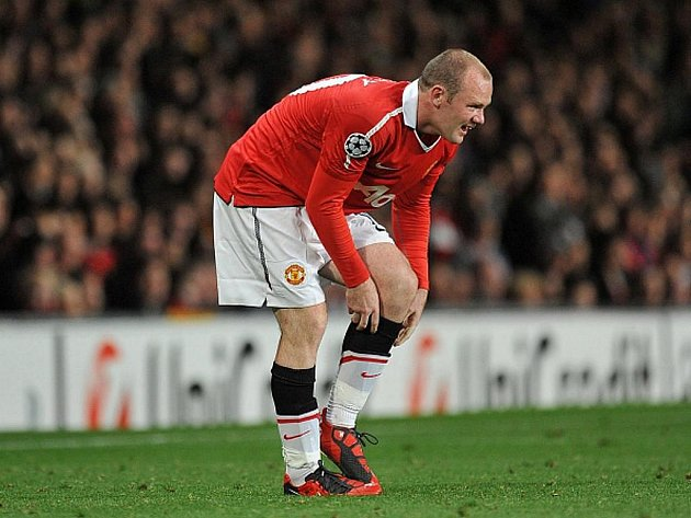 Střelec Manchesteru United Wayne Rooney.