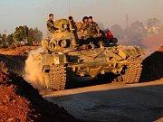 Sýrie. Do města Dará přijíždějí syrské jednotky.