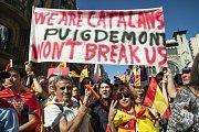 Statisíce Katalánců protestovaly proti odtržení regionu