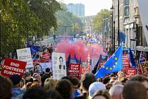 V ulicích Londýna se sešlo více než půl milionu odpůrců brexitu.