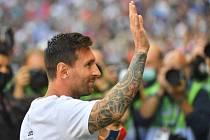 Lionel Messi a vítání v Paříži