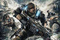 Konzolová hra Gears of War 4.