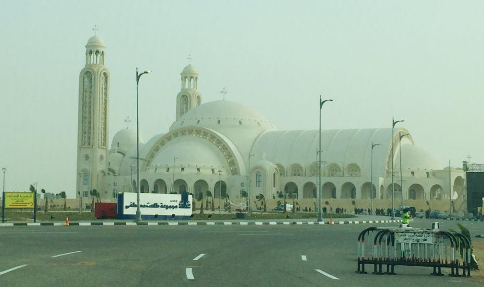 Největší křesťanská katedrála na Blízkém východě.