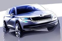 Škoda Kodiaq na oficiální skice.