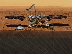 Planetární sonda InSight bude zkoumat povrch Marsu.