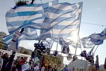 Demonstrace v Řecku proti úsporným reformám.