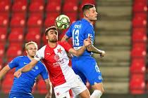 Utkání Slavia - Liberec se odehrálo před prázdnými tribunami