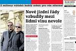 Titulní strana Deníku Extra, 12. září 2020