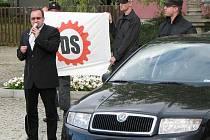 Předseda Dělnické strany Tomáš Vandas.