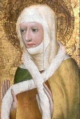 Svatá Ludmila, výřez z Votivního obrazu arcibiskupa Jana Očka z Vlašimi