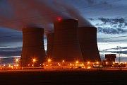 Jaderná elektrárna Temelín u Týna nad Vltavou.