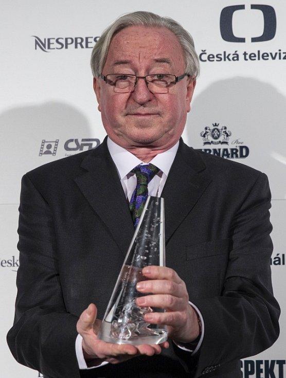 Předávání filmových cen Český lev 22. února v Praze. Herec Jiří Lábus.