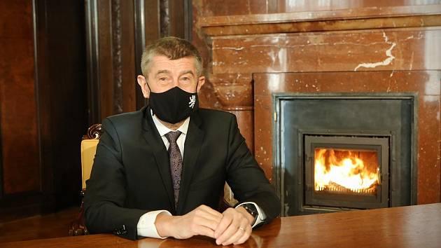 Premiér Andrej Babiš během novoročního projevu