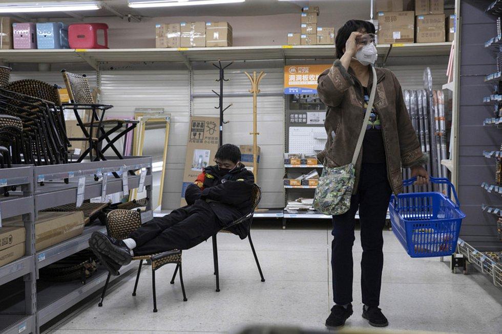 Supermarket v Pekingu.