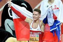 Pavel Maslák obhájil na halovém mistrovství Evropy v Praze v běhu na 400 metrů zlatou medaili.
