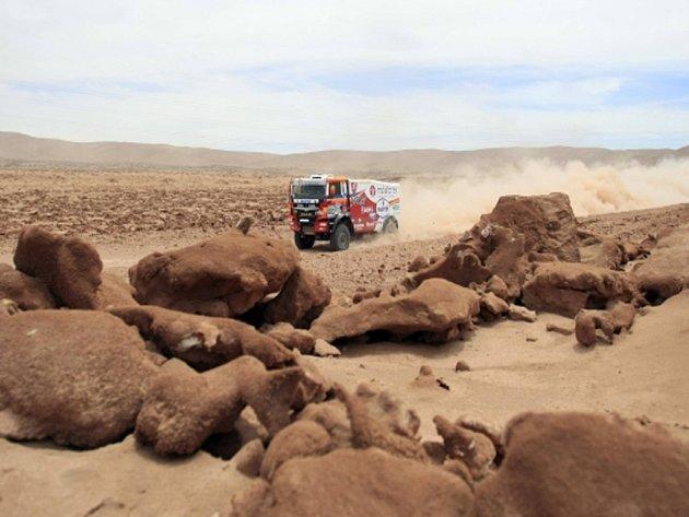 Aleš Loprais v deváté etapě Rallye Dakar.