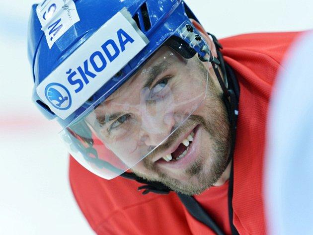 Radek Smoleňák na tréninku hokejové reprezentace.