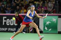 Petra Kvitová ve Fed Cupu proti Rumunsku.
