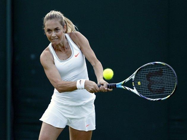 Klára Zakopalová na Wimbledonu.