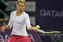 Lucie Šafářová na turnaji v Dauhá.