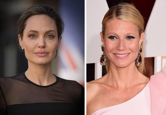 Filmové hvězdy Angelina Jolie (vlevo) a Gwyneth Paltrowová.