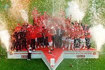 Fotbalová Slavia obhájila ligový titul.