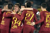 Radost fotbalistů AS Řím.