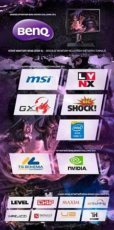 Partneři turnaje vpočítačových hrách BenQ Grunex Challenge 2014.