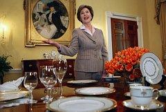 Bývalá první dáma USA Laura Bushová.