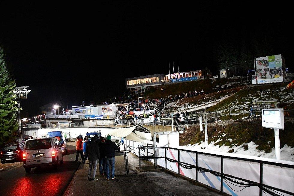 Ledová dráha v Altenbergu.