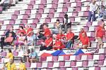Čeští fanoušci na atletickém MS v Dauhá