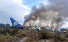 Nehoda letadla na severu Mexika