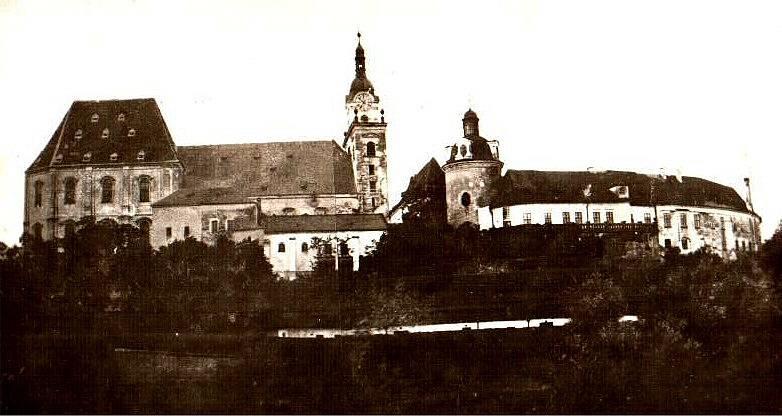 Olomoucký hrad s katedrálou v první polovině 19. století