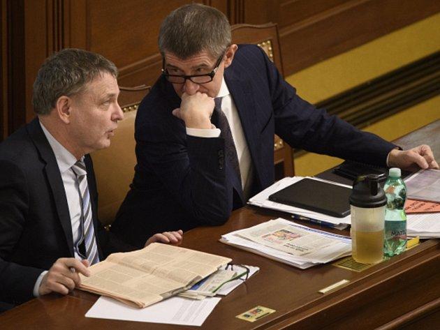 Lubomír Zaorálek (ČSSD) a Andrej Babiš (ANO).