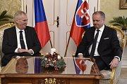 Prezident Miloš Zeman při návštěvě krajského úřadu v Ostravě v úterý 22. září 2015.