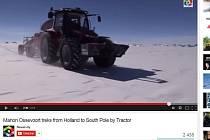 Nizozemka dobyla Jižní pól na traktoru.