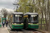 Tramvaj ForCity Smart Artic X34 v německém městě Schöneiche.