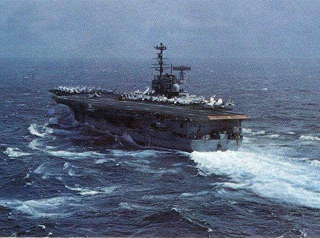 Opravený Forrestal sloužil od 11. března do 11. září 1974 opět ve Středozemním moři