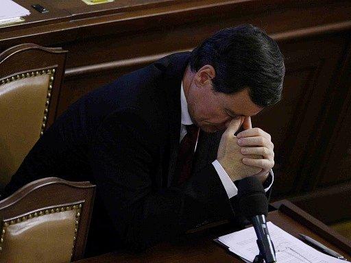 Vazebně stíhaný poslanec David Rath vystoupil 7. září ve Sněmovně v Praze.