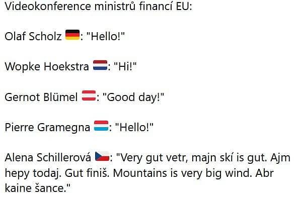 Srovnávání jazykových schopností ministryně se slavným běžkařem je evergreen