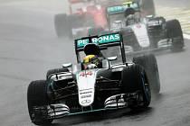 Lewis Hamilton ve Velké ceně Brazílie.
