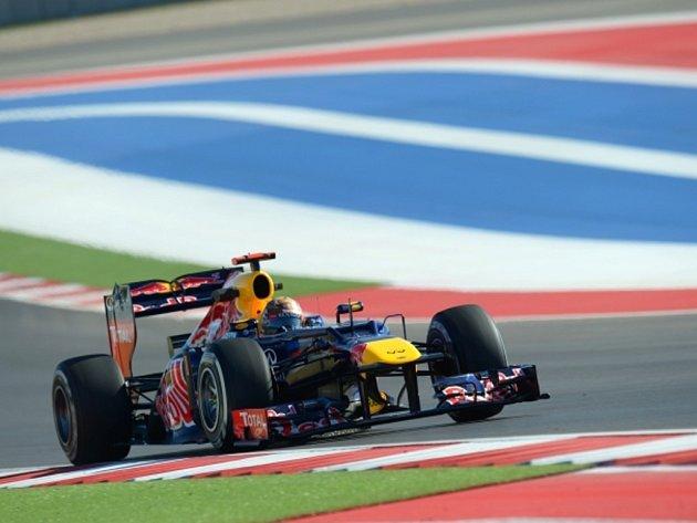 Sebastian Vettel v tréninku na Velkou cenu USA.
