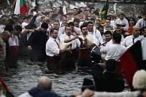 Oslava pravoslavných Vánoc v Bulharsku